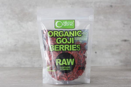 Absolute Organic Organic Goji Berries 250g Pantry > Dried Fruit & Nuts
