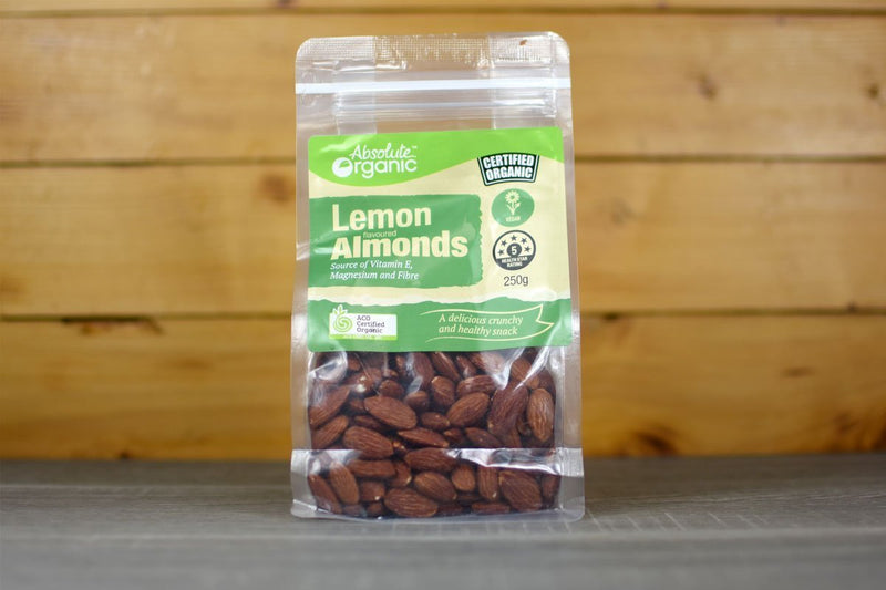 Absolute Organic Organic Lemon Almond Nuts 250g Pantry > Dried Fruit & Nuts