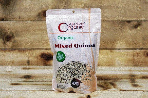 Absolute Organic Organic Mixed Quinoa 400g Pantry > Grains, Rice & Beans