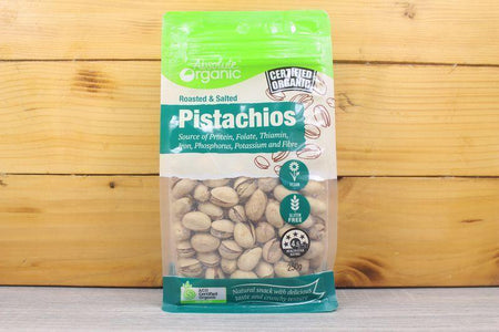 Absolute Organic Organic Pistachios Roasted & Salted 250g Pantry > Dried Fruit & Nuts