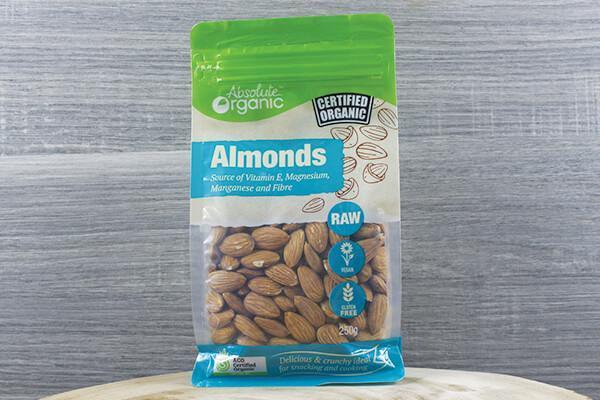 Absolute Organic Organic Raw Almonds 250g Pantry > Dried Fruit & Nuts