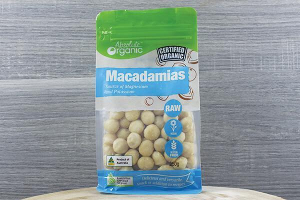Absolute Organic Organic Raw Macadamia 250g Pantry > Dried Fruit & Nuts
