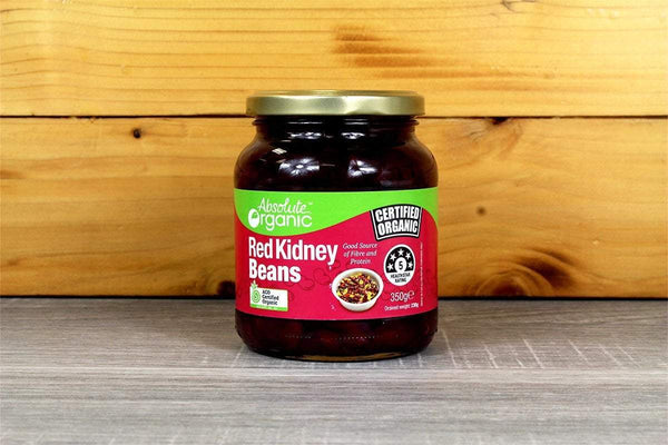 Absolute Organic Organic Red Kidney Beans Jar 350g Pantry > Canned Goods