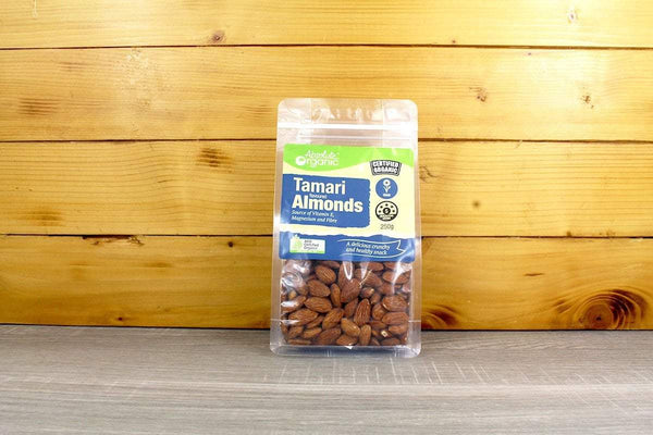Absolute Organic Organic Tamari flavoured Almonds 250g Pantry > Dried Fruit & Nuts