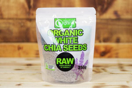 Absolute Organic Organic White Chia Seeds 250g Pantry > Grains, Rice & Beans