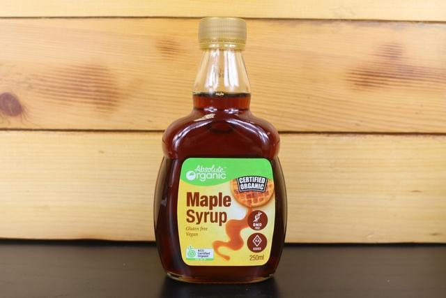 Absolute Organic Syrup Maple Pure 250ml Pantry > Baking & Cooking Ingredients