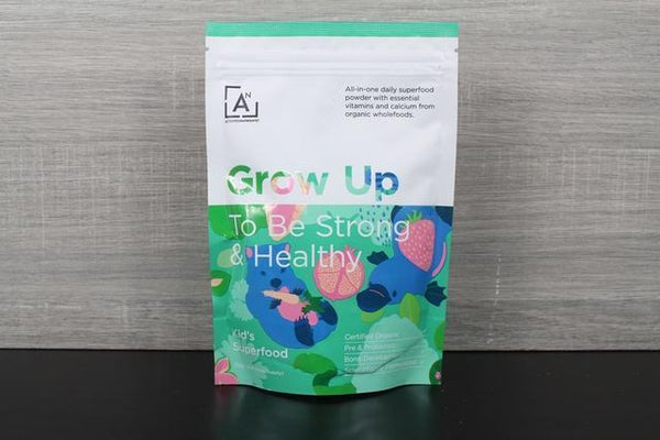 Activated Nutrients Grow Up - Kids Superfood 4-8 Week Supply 112g Pantry > Protein Powders & Supplements