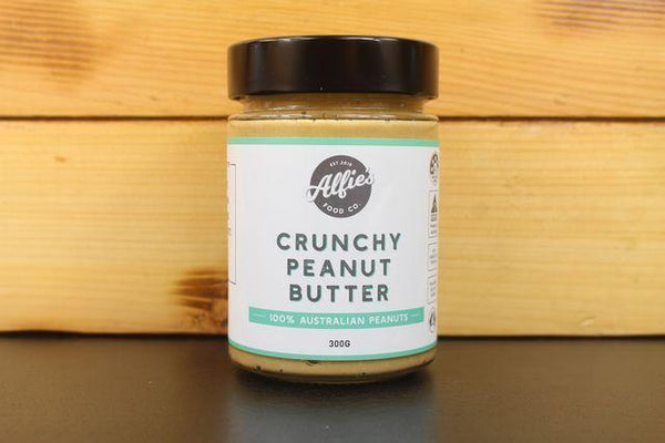 Alfie's Alfie's Crunchy Peanut Butter 300g Pantry > Nut Butters, Honey & Jam