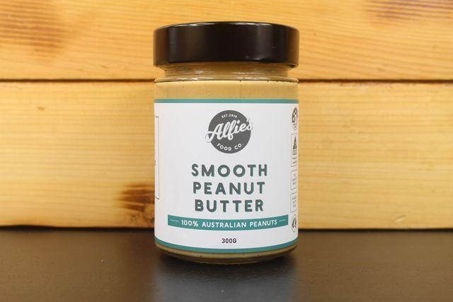 Alfie's Alfie's Smooth Peanut Butter 300g Pantry > Nut Butters, Honey & Jam