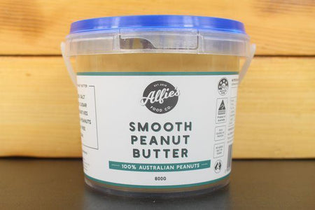 Alfie's Large Smooth Peanut Butter 800g Pantry > Nut Butters, Honey & Jam