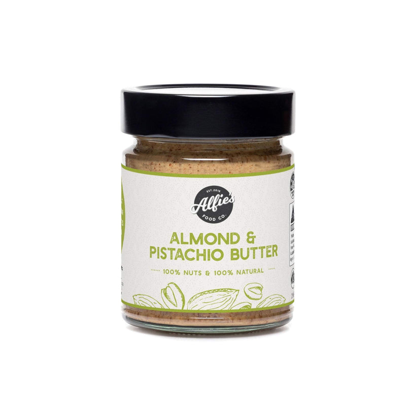Alfie's Pistachio & Almond Butter 250g Pantry > Nut Butters, Honey & Jam
