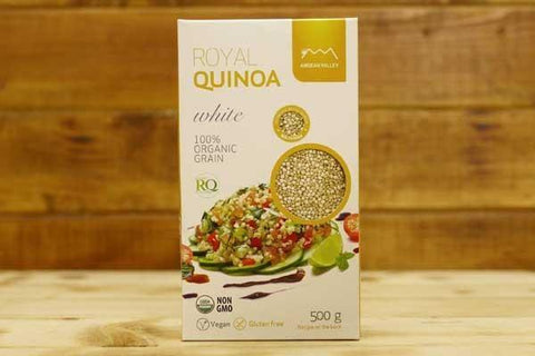 Andean Valley Organic Royal Quinoa White Grain 500g Pantry > Grains, Rice & Beans