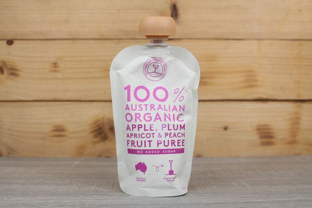 AOFC AOFC Apple Plum Apricot & Peach Puree 120g Pantry > Baby Food & Kids Corner