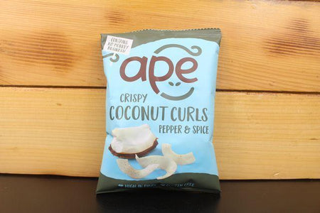 Ape Coconut Ape Pepper & Spice Coconut Curls 20g Pantry > Cookies, Chips & Snacks