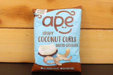 Ape Coconut Ape Salted Choc Coconut Curls 20g Pantry > Cookies, Chips & Snacks