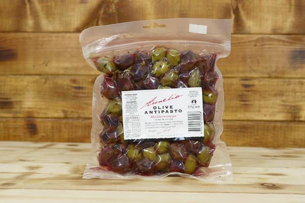 Aurelio Mediteranean Olives 325g Pantry > Antipasto, Pickles & Olives