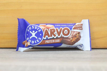 Aussie Bodies Arvo Almond Caramel Protein Bar 32g Pantry > Granola, Cereal, Oats & Bars