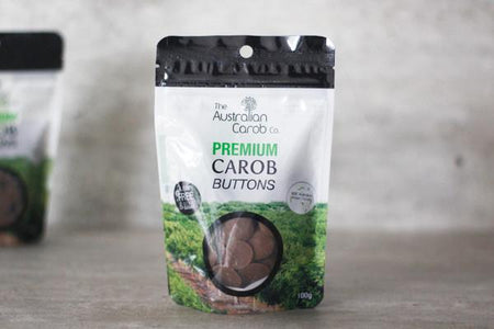 Australian Carob Co. Organic Carob Buttons 100g Pantry > Confectionery