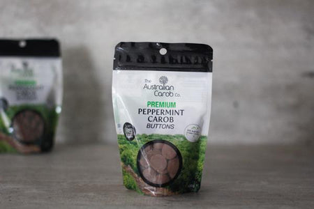 Australian Carob Co. Organic Carob Peppermint Buttons 100g Pantry > Confectionery
