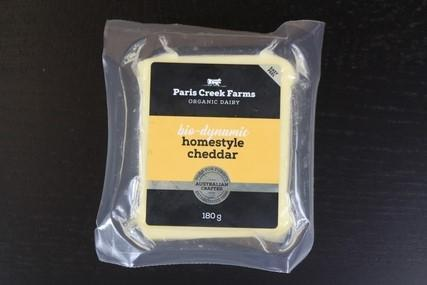 B.D Farm Paris Creek Biodynamic Organic Cheddar Cheese 180g Dairy & Eggs > Cheese