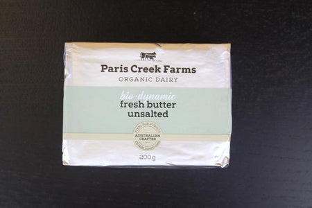 B.D Farm Paris Creek PCF Org Biodynamic Unsalted Butter 200g Dairy & Eggs > Butter