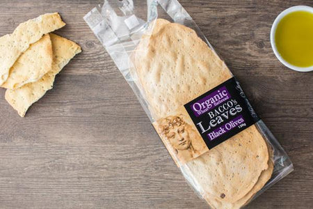 Bacco's Bakeries Bacco Leaves with Black Olive 130g Pantry > Biscuits, Crackers & Crispbreads