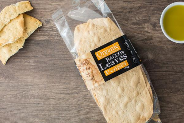 Bacco's Bakeries Bacco Leaves with Cracked Pepper 130g Pantry > Biscuits, Crackers & Crispbreads