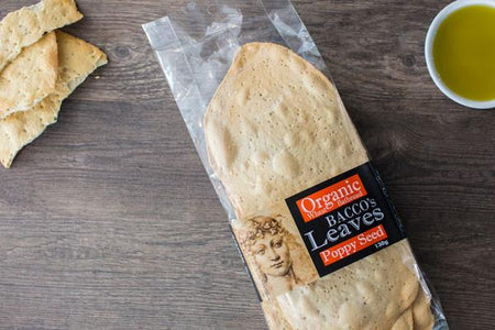 Bacco's Bakeries Bacco Leaves with Poppy Seeds 130g Pantry > Biscuits, Crackers & Crispbreads