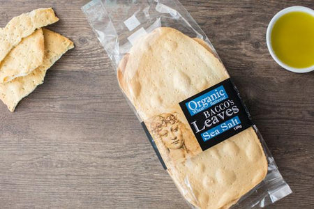 Bacco's Bakeries Organic Spelt Flatbread with Sea Salt 130g Pantry > Biscuits, Crackers & Crispbreads