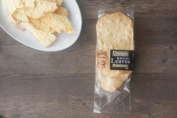 Bacco's Bakeries Organic Wheat Flatbread with Rosemary 130g Pantry > Biscuits, Crackers & Crispbreads