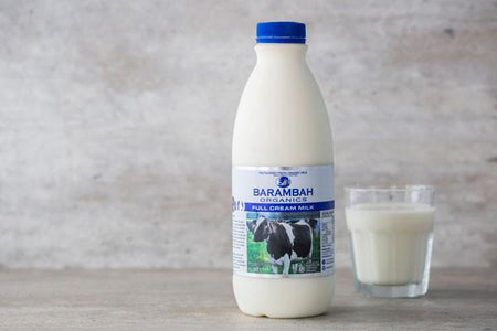 Barambah Organics Organic Full Cream Milk 1L* Dairy & Eggs > Milk