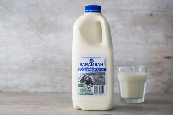Barambah Organics Organic Full Cream Milk 2L* Dairy & Eggs > Milk