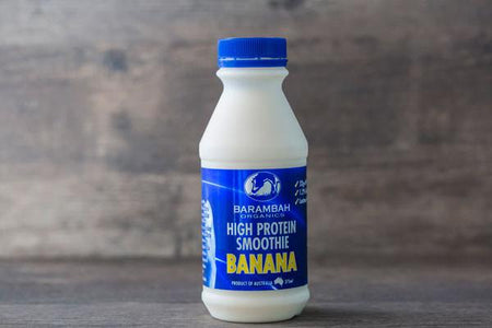 Barambah Organics Organic High Protein Banana Smoothie 375ml* Drinks > Milks & Dairy Alternatives