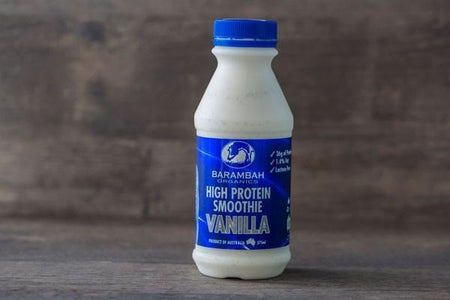 Barambah Organics Organic High Protein Vanilla Smoothie 375ml* Drinks > Milks & Dairy Alternatives
