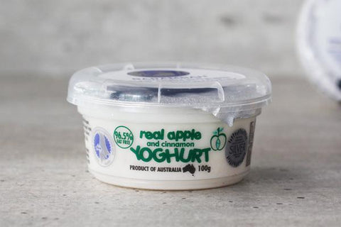 Barambah Organics Organic Real Apple and Cinnamon Yoghurt 100g* Dairy & Eggs > Yoghurt