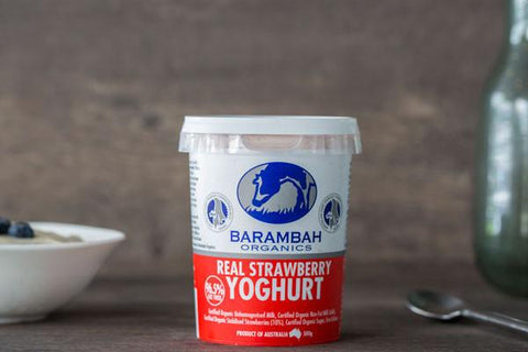 Organic Real Strawberry Yoghurt 200g*