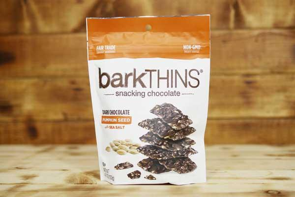 Barkthins Dark Chocolate Pumpkin Seed with Sea Salt 133g Pantry > Confectionery