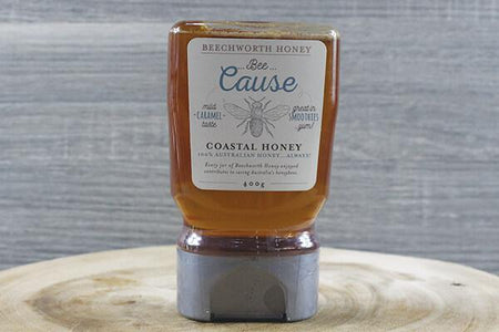 Beechworth Honey Bwrth Bcause Coastal Honey Squeeze 400g Pantry > Nut Butters, Honey & Jam
