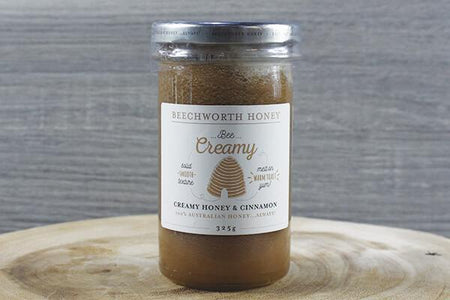 Beechworth Honey Bwrth Bee Creamy Honey & Cinnamon 325g Pantry > Nut Butters, Honey & Jam