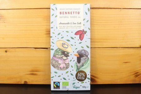Bennetto Natural Foods Amaranth & Sea Salt 100g Bar Pantry > Confectionery