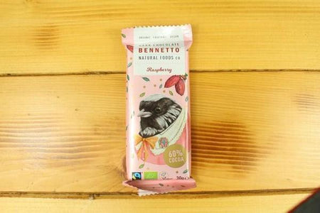 Bennetto Natural Foods Benetto Raspberry Bar 30g Pantry > Confectionery