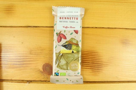 Bennetto Natural Foods Bennetto Coffee Bean 30g Bar Pantry > Confectionery