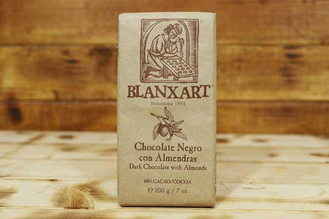 Blanxart Dark Almond Chocolate 62% Cacao 200g Pantry > Confectionery