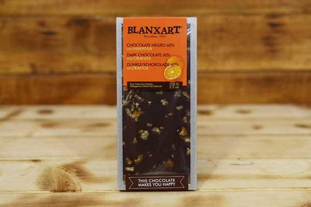Blanxart Dark Chocolate 60% with Orange Cacao Bar 100g Pantry > Confectionery