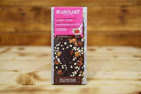 Blanxart Dark Chocolate 72% Strawberry Yoghurt 100g Pantry > Confectionery