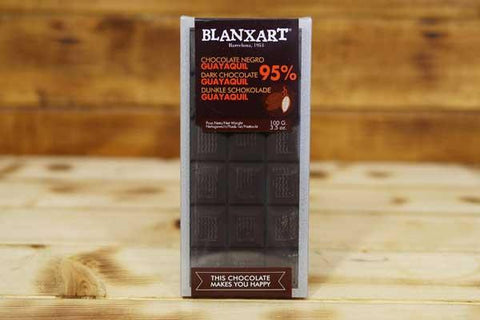Blanxart Dark Chocolate 95% Cacao Bar 100g Pantry > Confectionery