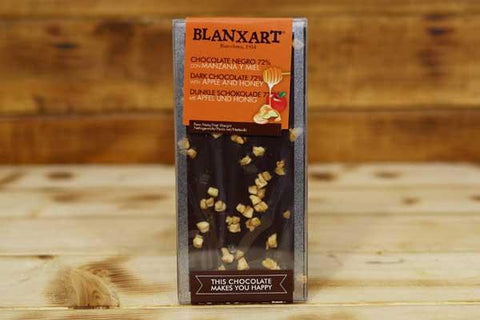 Blanxart Dark Chocolate Apple-Honey 100g Pantry > Confectionery