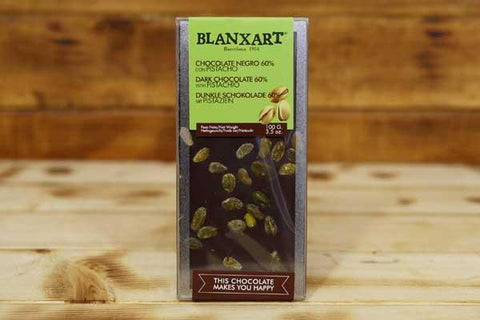 Blanxart Dark Chocolate Pistachio 60% 100g Pantry > Confectionery