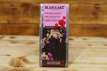 Blanxart Dark Chocolate Rose Petal 60% 100g Pantry > Confectionery