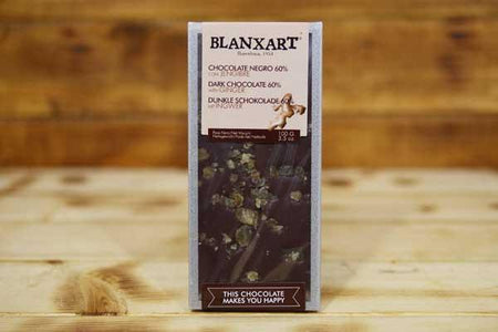 Blanxart Dark Ginger Chocolate 60% 100g Pantry > Confectionery